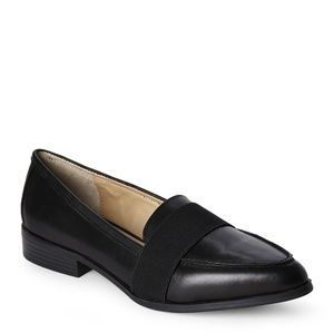 BCBGeneration Black Jo Pointed Toe Loafers